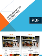Improvements on Content Page