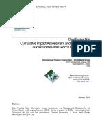IFC - Good Practice Note - Cumulative Impacts