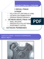 PROSES PENGECORAN(CASTING)