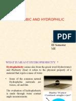 Hydrophobic Hydrophilic