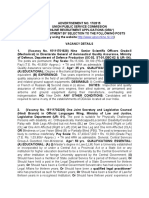 Notification UPSC Advt No 17 2015 Sr Scientific Officer Associate Professor Other Posts