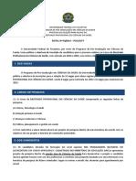 Edital Nº 01 Mestrado Em Ciências Da Saúde 2014