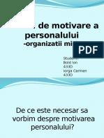 Tehnici de motivare a personalului