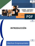 Cierre Contable Tributario 2014