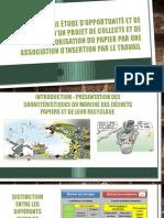 Présentation d'un projet papier mené par une  association d'insertion par le travail