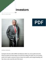 Managing Investors