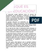 Que Es La Educacion