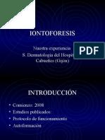Tratamiento de hipersudoracion mediante IONTOFORESIS