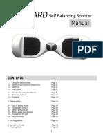 G Board Hoverboard Manual