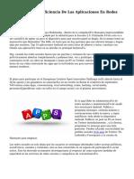 Medición De La Eficiencia De Las Aplicaciones En Redes Sociales