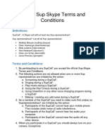 official sup skype terms and conditions