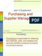 Operations Management Ch12 Purchasing and Supplier Management