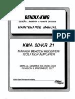 KMA 20 Mant. Manual