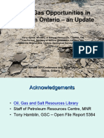 Shale gas opportunities in Southern Ontario