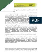 Desenvolvimento da gricultura mundial e brasileira