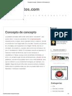 Concepto de concepto - Definición en DeConceptos