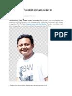 Cara Memotong Objek Dengan Cepat Di Photoshop