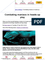 PKR _ Combating Maniacs in Heads-up Play