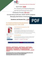 [Braindump2go] New 70-663 Braindump Free Download 1-10