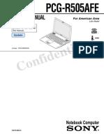 VAIO PCG-R505AFE Laptop (Manual de Servicio)