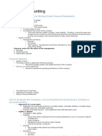 Financial Accounting - Notes