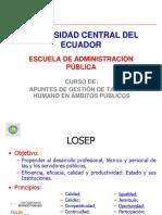 Presentación Losep y Legislación Laboral Uce