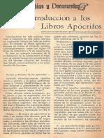 Breve Introduccion a Los Libros Apocrifos - Miguel Torres Pbro