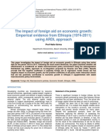 The Impact of Foreign Aid on Economic Growth Emperical Evidence From Ethiopia 1974 2011using Ardl Approach