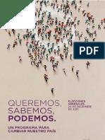 Podemos - Programa Generales 2015