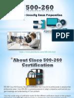 Pass4sure 500-260 Braindumps Questions