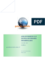Guia de Ingreso a La Secundaria Español 1 - 2015