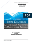 Final Delivery Technology and Retail Tompkins