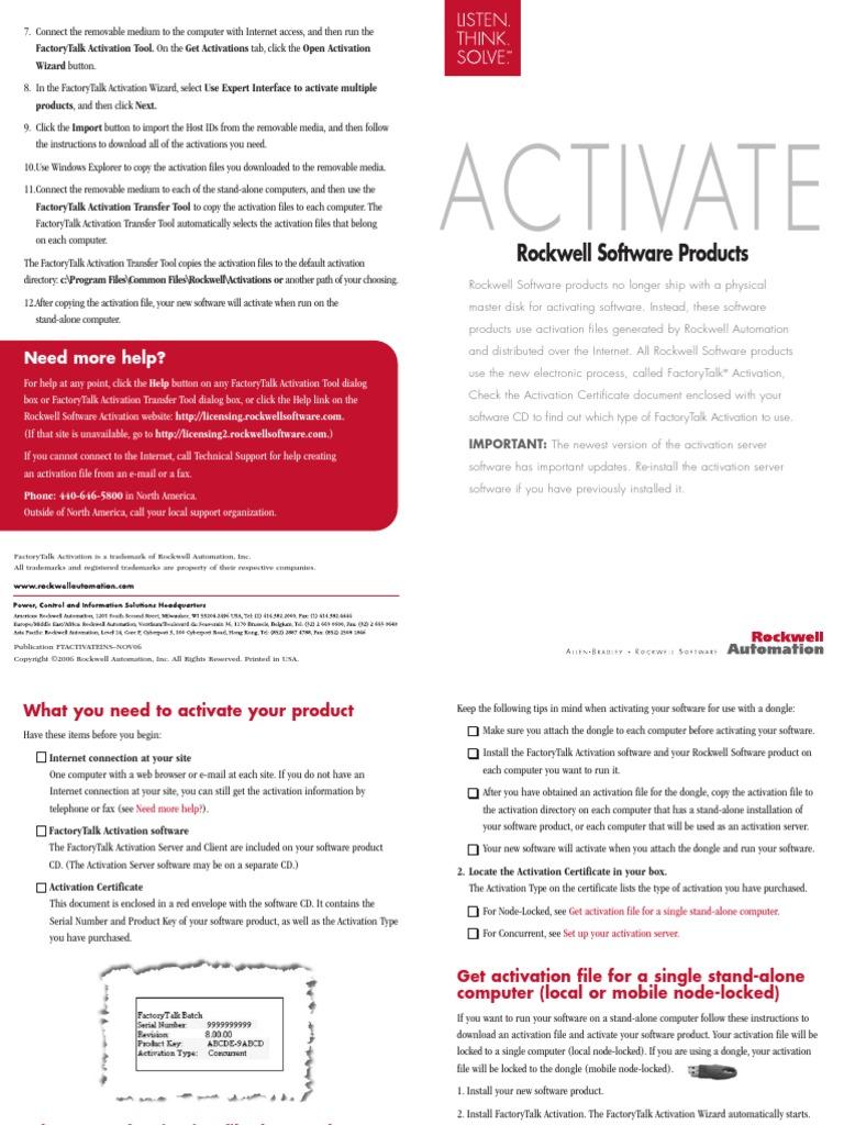 FTACTIVATEINS-NOV06 | Server (Computing) | Computer Hardware
