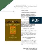 Ksiega Madrości Tolteków Cztery umowy Don Miguel Ruiz