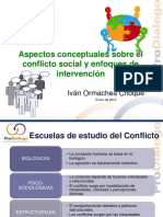 Conflicto Social y Enfoques de Intervencion