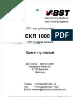 EKR 1000 With Analogue Sensors