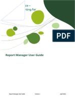 Sage Intelligence Financial Reporting for X3 Report Manager User Guide