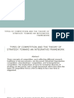 Types of Competition and the Theory of Strategy