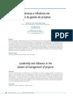 Liderança e Influência nas fases de projetos