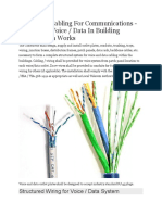Structured Cabling for Communications