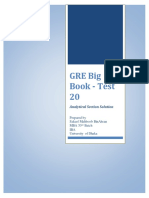 GRE Big Book Test 20 Analytical Section Solution