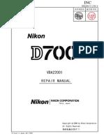 Service manual Nikon d700