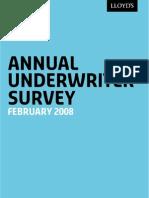 Annual Underwriter Survey Results 2008
