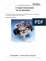 Instructions for Repairing Alternator