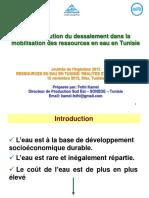 Journée Ingénieur Sfax - Le Dessalement en Tunisie- Kamel Fethi-10!11!2012