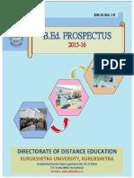 B.ed. Prospectus 2015-16