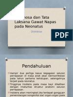 Diagnosa Dan Tata Laksana Gagal Nafas Pada Neonatus