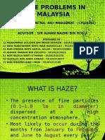 Haze Problems in Malaysia