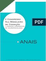 Anais Do II Congresso Sul Brasileiro de Cognicao e I Jornada Catarinense de Neuropsicologia