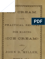 Ice Cream Practical Recipes for Making Ice Cream (1886)